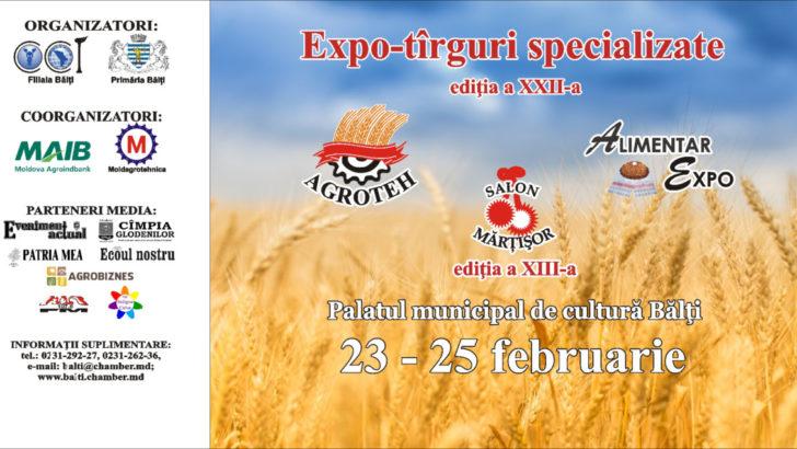 """Expo-tîrguri specializate """"AGROTEH"""", """"ALIMENTAR EXPO"""", ediţia a XXII-a şi salonul  """"Mărţişor"""", ediţia a XIII-a"""
