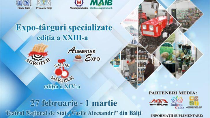 """Expo-tîrguri specializate """"AGROTEH"""", """"ALIMENTAR EXPO"""" şi salonul """"Mărţişor"""""""