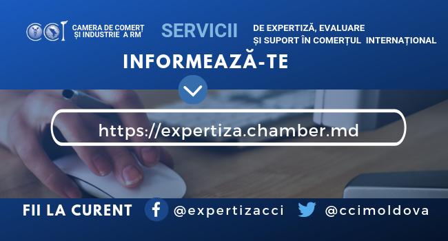 """CCI a RM prezintă noua versiune a paginii dedicată """"Serviciilor de expertiză, evaluare și suport în comerțul internațional"""""""