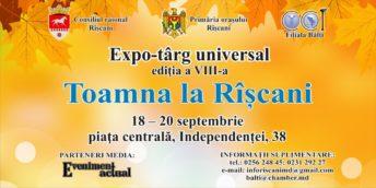 """Expo-târgul universal """"Toamna la Rîşcani"""", ediţia a VIII-a"""